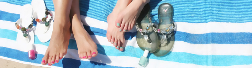 Banner - Feet On Beach Towel